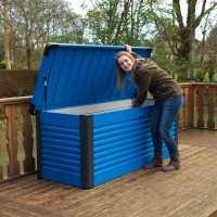 6ftx2ft5 (1.8x0.75m) Trimetals Blue Protect.a.Box - Premium Metal Garden Storage