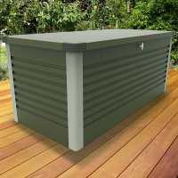 6ftx2ft5 (1.8x0.75m) Trimetals Green Protect.a.Box - Premium Metal Garden Storage