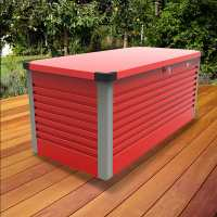 6ftx2ft5 (1.8x0.75m) Trimetals Red Protect.a.Box - Premium Metal Garden Storage