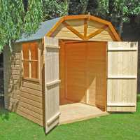 6ft9 x 6ft6 Shire Barn Double Door Wooden Garden Shed (2.16m x 2.52m)