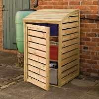 2ftx3ft (0.6x0.9m) Rowlinson Wooden Garden Box Store - Patio Storage
