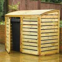 5 ftx 3ft Rowlinson Double Wooden Wheelie Bin Storage (1.56x0.82m)