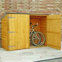 6ft x 2ft6 (1.89x0.75m) Shire Wooden Bike Shed & Garden Storage