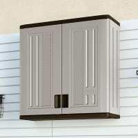 Suncast Wall Utility/ Garage Cabinet Grey - Plastic Storage Cupboard