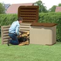 7ft4 x 3ft1 (2.24x0.92m) Suncast Resin Kensington Five Store - Plastic Garden Storage