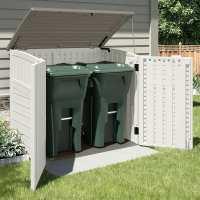 4ft x 3ft (1.31 x 0.78m) Suncast Resin Kensington Six Store - Plastic Garden Storage