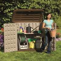 4ft8 x 2ft8 (1.42x0.80m) Suncast Resin Kensington Four Store - Plastic Garden Storage