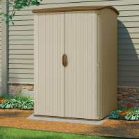 5ft x 4ft Suncast Resin Conniston Three Vertical Plastic Garden Storage Shed (1.42m 1.24m)