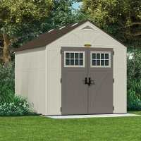 8ft x 10ft Suncast New Tremont Three Apex Roof Plastic Garden Storage Shed (2.43m x 3.11m)