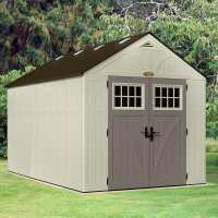 8ft x 13ft Suncast New Tremont Two Apex Roof Plastic Garden Storage Shed (2.43m x 4.03m)