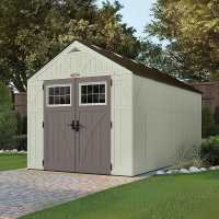8ft x 16ft Suncast New Tremont One Apex Roof Plastic Garden Storage Shed (2.43m x 4.96m)