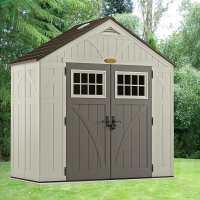 8ft x 4ft Suncast New Tremont Five Apex Roof Plastic Garden Storage Shed (2.43m x 1.24m)