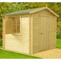 2.7x2.7m (9ftx9ft) GardenStyle Camelot 19mm Log Cabin Shed