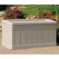 4ft5 x 2ft5 (1.35x0.74m) Suncast Resin Deck Box With Seat - Plastic Garden Storage