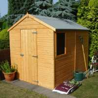 8ft x 6ft Shire Durham Tongue and Groove Apex Wooden Shed (2.38m x 1.79m)