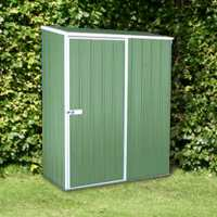 5ft x 2ft7 Absco Easy Store 1PE Green Metal Garden Shed (1.52m x 0.78m)