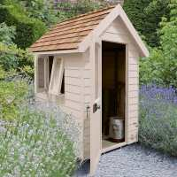 6ft x 4ft Forest Retreat Cream Luxury Shed (1.81m x 1.22m)