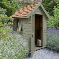 6ft x 4ft Forest Retreat Green Luxury Shed (1.81m x 1.22m)