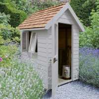 6ft x 4ft Forest Retreat Grey Luxury Shed (1.81m x 1.22m)