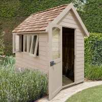 8ft x 5ft Forest Retreat Cream Luxury Shed (2.41m x 1.5m)