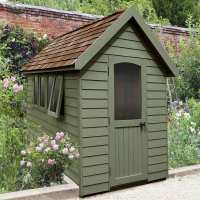 8ft x 5ft Forest Retreat Green Luxury Shed (2.41m x 1.5m)