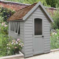 8ft x 5ft Forest Retreat Grey Luxury Shed (2.41m x 1.5m)