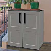 2ft2 x 1ft2 Shire Mid Plastic Garden Storage Cupboard with Shelves (0.68m x 0.37m)