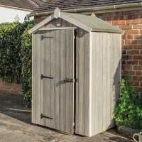 4ft x 3ft Rowlinson Heritage Wooden Grey Storage Shed (1.32m x 0.98m)