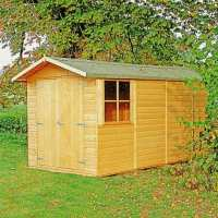 13ft2 x 6ft6 Shire Jersey Double Door Wooden Garden Shed (4.33m x 2.2m)