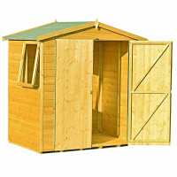 6ft x 4ft Shire Lewis Premium Apex Double Door Wooden Garden Shed (1.79 x 1.19m)