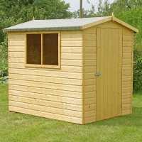 5ft x 7ft Shire Lewis Premium Apex Wooden Garden Shed (1.49m x 2.09m)