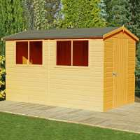 6ft x 10ft Shire Lewis Premium Apex Wooden Garden Shed (1.79m x 2.99m)