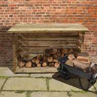 6ft x 2ft (1.76x0.64m) Forest Large Log Store including Firewood Pack