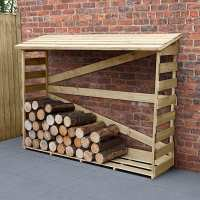 5ft8 x 2ft Forest Slatted Log Store (1.7m x 0.57m) - Large
