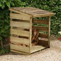 4ft x 2ft Forest Log Store (1.16x0.64m)