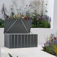5ftx3ft (1.5x0.9m) Lotus Anthracite Grey Cushion Storage Box