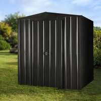 6ft x 4ft Lotus Anthracite Grey Apex Metal Shed (1.84m x 1.23m)