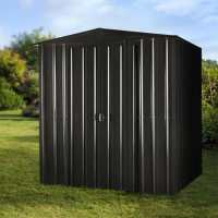 6ft x 5ft Lotus Anthracite Grey Apex Metal Shed (1.71m x 1.44m)