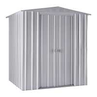 6ft x 5ft Lotus Aluminium White Apex Metal Shed (1.71m x 1.44m)