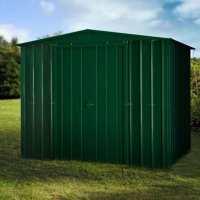 8ft x 3ft Lotus Heritage Green Apex Metal Shed (2.45m x 0.92m)