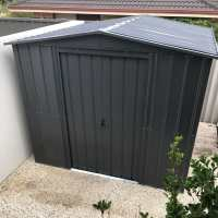 8ft x 5ft Lotus Anthracite Grey Metal Shed (2.45m x 1.54m)