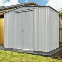 8ft x 6ft Lotus Aluminium White Apex Metal Shed (2.34m x 1.75m)
