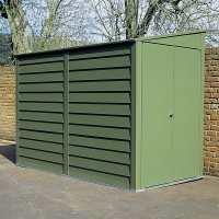 8ft8 x 5ft3 Trimetals MCG950 Premium Motorcycle Metal Garage- Security Storage (2.65m x 1.60m)