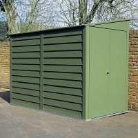 8ft8 x 6ft Trimetals MCG960 Premium Motorcycle Metal Garage - Security Storage (2.65m x 1.83m)