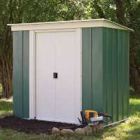 6ft x 4ft Rowlinson Greenvale Metal Pent Shed (1.9m x 1.19m)