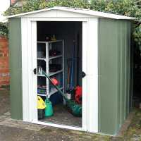 6ft x 5ft Rowlinson Greenvale Metal Apex Shed (1.94m x 1.51m)