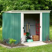 8ft x 4ft Rowlinson Greenvale Metal Pent Shed (2.5m x 1.19m)