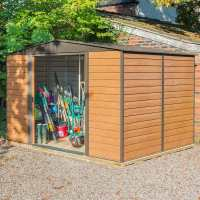 10ft x 12ft Rowlinson Woodvale Metal Apex Shed - Includes Floor & Installation (3.13m x 3.7m)