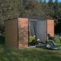 10ft x 6ft Rowlinson Woodvale Metal Apex Shed - Includes Floor & Installation (3.13m x 1.81m)