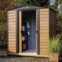 8ft3 x 6ft Arrow Woodvale Garden Metal Storage Shed (2.53m x 1.81m)